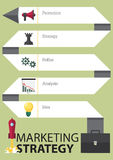 Key marketing strategy timeline infographic template in flat design. Vector Royalty Free Stock Photos