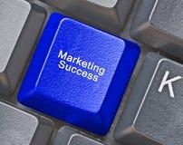 Key for marketing success. Hot key for marketing success Royalty Free Stock Photo