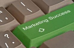 Key for marketing success. Hot key for marketing success Stock Photos
