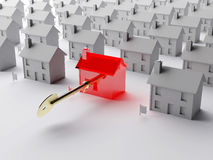 key marknad för hus till Arkivfoton