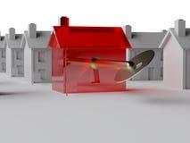 key marknad för hus till Arkivfoto