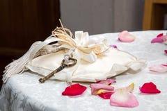 Key marriage on the pillow Stock Photo
