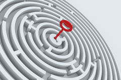 key maze Arkivfoto