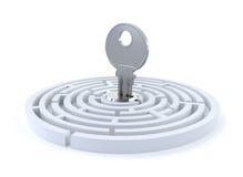 key maze för begrepp Fotografering för Bildbyråer