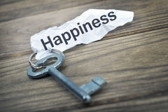 Key with message Happiness Royalty Free Stock Photos