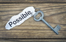 Key with message possible Royalty Free Stock Photography