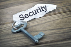 Key with message Security Stock Photos