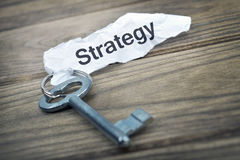 Key with message Strategy Royalty Free Stock Photo