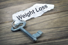 Key with message Weight Loss Stock Photography