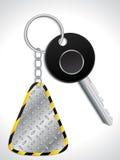 Key with metallic keyholder Royalty Free Stock Image