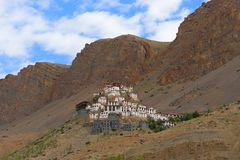 Key monastery. Very old and famous buddhist monastery in Spiti valley, Himachal Pradesh, India Stock Image