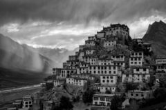 Key Monastery. Is a Tibetan Buddhist monastery located on top of a hill at an altitude of 4,166 metres above sea level, in the Spiti Valley of Himachal Pradesh royalty free stock photos
