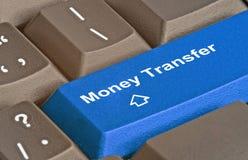 Key for money transfer. Hot key for money transfer Stock Image