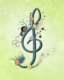 Key music illustration. Abstract illustration with key music Stock Images