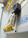 Key on New power control panel Stock Photography