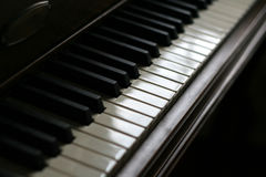 Key Notes. A closeup of the keys of a piano, shot with shallow depth of field Royalty Free Stock Photo
