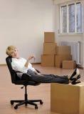 key nytt kontor för affärskvinna till Fotografering för Bildbyråer