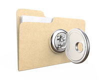 Key in office file Stock Photos