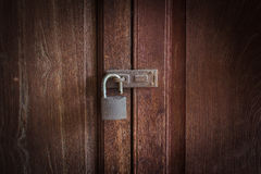 Key on the old door. Royalty Free Stock Photography