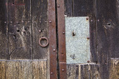 Key in a Old door Stock Photography