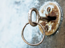 The key is in the old keyhole Royalty Free Stock Photos