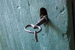Key and old lock stock photography