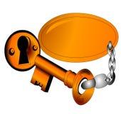 key openning för dörren-guld Royaltyfria Bilder