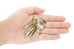 The key on openning hand Royalty Free Stock Image
