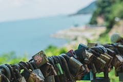 Key to hanging by the sea. royalty free stock photos