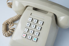 Key pad of old telephone Stock Photo