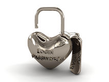 key padlock Royaltyfri Illustrationer