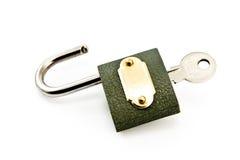 key padlock Fotografering för Bildbyråer