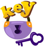 Key and padlock Royalty Free Stock Images