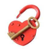 key padlock Arkivbild
