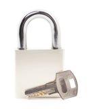 key padlock Royaltyfri Fotografi