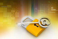 key padlock Royaltyfria Foton