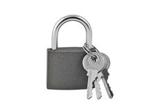 key padlock Arkivfoto