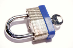 key padlock Royaltyfri Foto