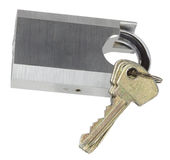 key padlock Royaltyfria Bilder