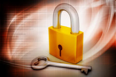 Key and padlock Stock Images