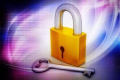 Key and padlock Royalty Free Stock Photography