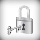 Key and padlock Stock Image