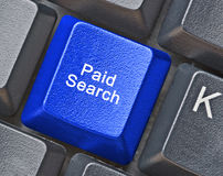 Key for paid search Royalty Free Stock Image