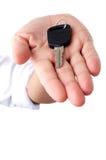 Key on palm Stock Images