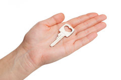 Key on a palm Royalty Free Stock Photography