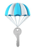 Key with a parachute Royalty Free Stock Image