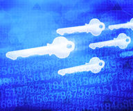 Key PC Abstract Tech Blue Background. Key PC Abstract Tech on Blue Background Stock Images