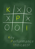 Key performance indicator on blackboard Stock Photography