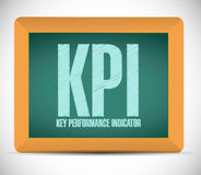key performance indicator board sign illustration Royalty Free Stock Photos