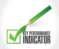 Key performance indicator check mark. Illustration design over a white background Stock Images